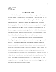 self writing essay examples of self reflection essay template