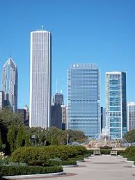 2010 showing the buildings new height in relation to surrounding bluecross blueshield office building architecture