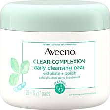 Aveeno Clear Complexion <b>Daily Facial Cleansing Pads</b> With ...
