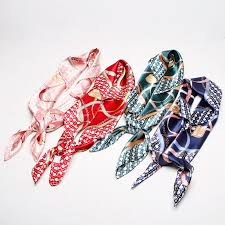 <b>Fashion Scarves For</b> Women Print Silk Satin Scarf Female Shawl ...