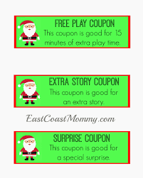 east coast mommy christmas coupons these coupons would make great stocking stuffers and you can and print them for here you could also right click on the picture above