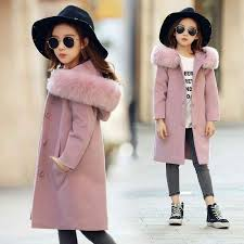 <b>Autumn Winter</b> Toddler <b>Girls Woolen</b> Coat Long <b>Wool</b> Coat For <b>Girl</b> ...