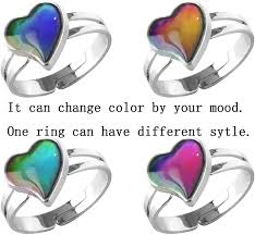 Acchen Mood Necklace Love Heart Change <b>Color</b> Emotional ...
