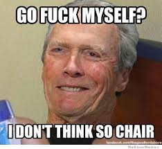 Best Of The Clint Eastwood Talking To A Chair Meme | WeKnowMemes via Relatably.com