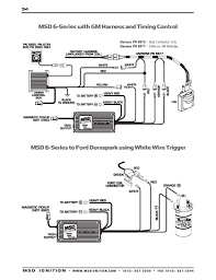 msd ignition wiring diagrams brianesser com msd 6 series to ford duraspark using white trigger wire