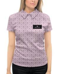 Рубашка Поло с полной запечаткой Французская <b>лилия</b>, Fleur de ...