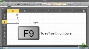 how to create a mini lucky draw in microsoft excel