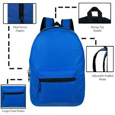 "15 "" <b>Wholesale</b> Kids Basic Backpacks <b>in 12 Assorted Colors</b> - <b>Bulk</b> ..."