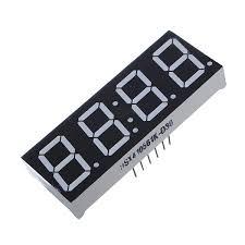 <b>4Pcs 7-Segment 0.56 Inch</b> 4 Digit 12 Pins Red LED Display ...