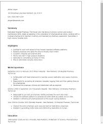 professional hospital pharmacy technician templates to showcase    resume templates  hospital pharmacy technician