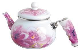 Купить Bohmann <b>Чайник</b> эмалированный 2 л белый/фиолетовый ...