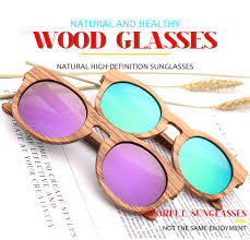Women's Bamboo Sunglasses <b>Polarized Zebra Wood Glasses</b> ...
