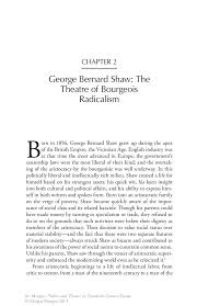 george bernard shaw the theatre of bourgeois radicalism springer inside