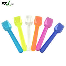<b>100 pcs Disposable</b> Plastic Ice Cream,cake spoon tea spoon mini ...