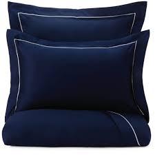 Karakol Bed Linen, <b>dark blue & natural</b> white | URBANARA