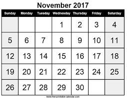 Image result for November 2017 Printable Calendar