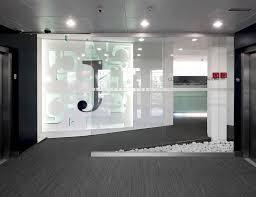 futuristic office interior design dental medicare white black color bright office room interior