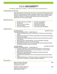 teacher resume examples elementary school teacher example resumes druvrfpd resume sample for teaching