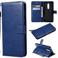 Wallet Case For <b>Nokia</b> 5 Flip back Cover <b>Pure Color</b> PU <b>Leather</b> ...