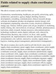 top  supply chain coordinator resume samples       fields related to supply chain