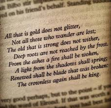 writing an essay on tolkien being your poetic role modelall that is gold does not glitter by j r r  tolkien