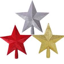 metal star wall decor: wholesale new stylish special offer best sale  colors christmas xmas tree decoration topper star hanging ornament home garden party decor