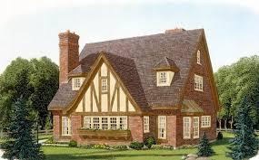 Contemporary Tudor House Plan   Tudor  House plans and Tudor    Contemporary Tudor House Plan   Tudor  House plans and Tudor House