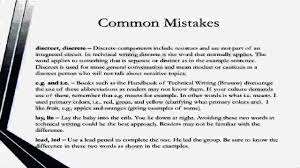 certified technical writer basic mistakes in technical writing certified technical writer basic mistakes in technical writing words and phrases
