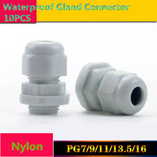 hot sale pg7 black and white plastic connector waterproof cable glands ip68 china