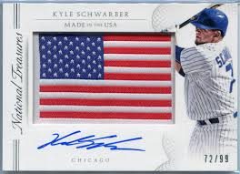 panini national treasures made in the usa kyle schwarber 2015 panini national treasures made in the usa kyle schwarber autograph 56 72 99