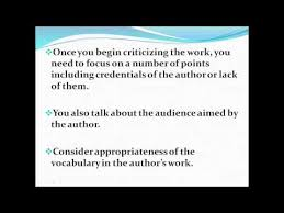 critique writing right structure amp format for critiques   youtube critique writing right structure amp format for critiques
