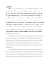 the prince of tides psychoanalysis paper page psychology  vince dematio psych 478 my client is bernard lowenstein a seventeen year old white jewish male bernard is having difficulties his relationships