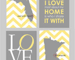 yellow and gray bedroom: yellow and gray bedroom decor yellow and grey bedroom art what i love about my home is who i share it with art set of quotxquot prints