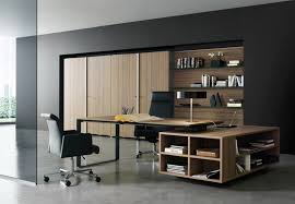 m amazing home interior decorating office design ideas with cool black wall color theme and modern brown wooden furniture set also elegant black leather black leather office design
