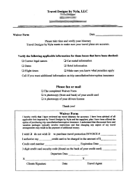 sample waiver form template sample travel waivers sample waiver form template tk