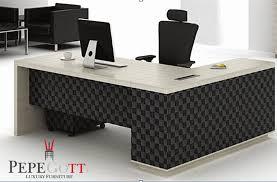biurko czarne1a table blackwhite premium series pepegotti black office desk