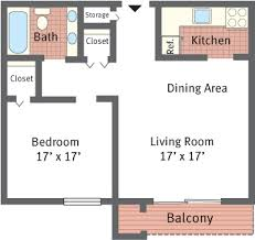 Floor Plans for St  Regis Apartments located in Philadelphia  PA    One Bedroom