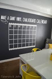 navy chalkboard wall and giant calendar tutorial chalkboard paint office