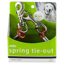 Meijer <b>Spring Dog</b> Tie Out, 12 ft Tie-Outs & Stakes   Meijer Grocery ...