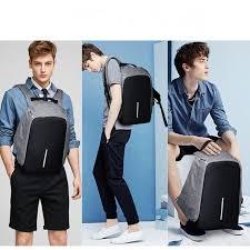 <b>Waterproof</b> USB Charging <b>Backpack Knapsack Anti</b>-<b>theft</b> | Shopee ...