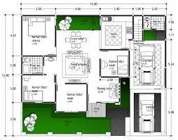denah rumah 1 lantai 3 kamar: Desain denah rumah minimalis 3 kamar tidur sederhana 2017