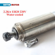 RUS/ EU Delivery!! 220V 2.2W <b>ER20</b> Water cooled Spindle motor ...