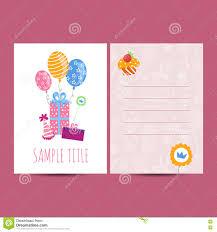 happy birthday postcard vector illustration stock vector image happy birthday postcard vector illustration