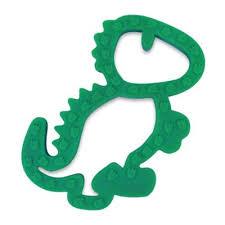 Itzy Ritzy® <b>Dinosaur Silicone Teether</b> in Green | Bed Bath & Beyond