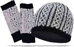 Cable Knit Women's Hand Warmers & Winter Beanie ... - Amazon.com