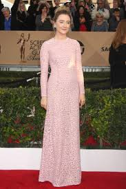 saoirse ronan is a sheer beauty in interview cover story saoirse ronan attends the 2016 screen actors guild awards wearing a pink michael kors dress