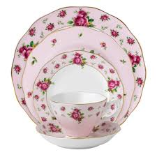 Royal Albert New Country Roses <b>Pink Vintage</b> 5 <b>Piece</b> Set - Royal ...