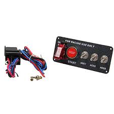 <b>12V LED</b> Toggle Ignition Switch Panel Engine Start Push Button Set ...