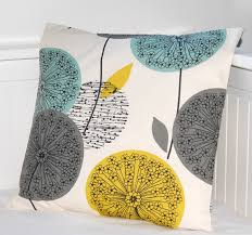 Teal Color Schemes For Living Rooms Teal Grey Mustard Dandelion Cushion Cover Flower Pillow Cover 16