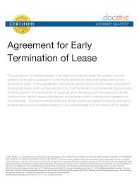 best photos of lease agreement early release clause notice to cover letter best photos of lease agreement early release clause notice to termination letterlease termination agreement